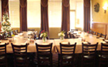 Banquet hall set up for catered event